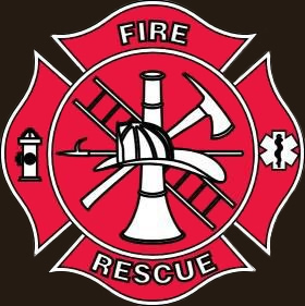 Fire and Rescue brown background